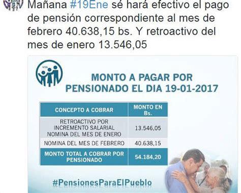 el mes de febrero se cobra el progresar pensionados cobrar 225 n bs 54 000 este jueves 19 01 17