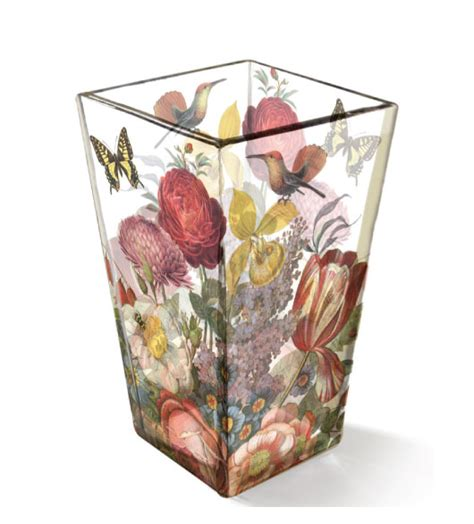Decorative Glass Flower Vases Decorative Vases With Decoupage Glass Vase Look