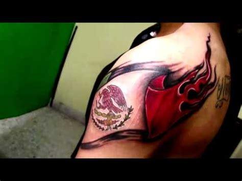tattoo 3d mexico tatuaje de hoy nuestra bandera mexicana youtube