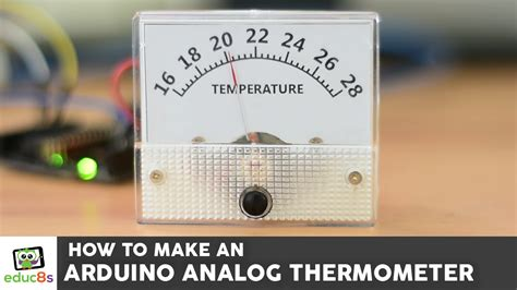 Thermometer Analog arduino analog thermometer educ8s tv learn build