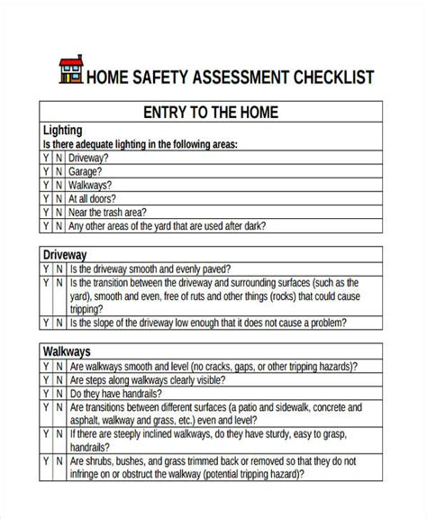 assessment checklist templates 11 free word pdf format