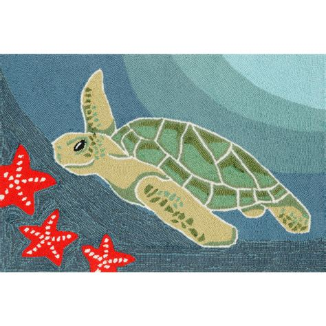 Sea Turtle Rug by Sea Turtle Indoor Outdoor Rug