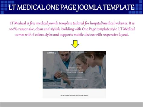 9 Best Medical Joomla Free Templates In October 2015 Joomla One Page Template Free