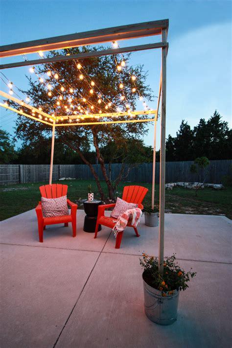 Diy String Light Pergola Define Your Outdoor Space Outdoor Pergola Lights