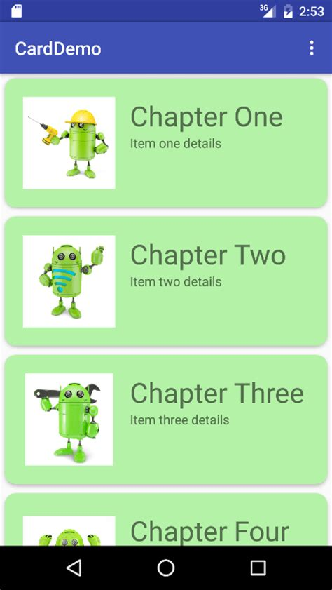 android studio card layout an android recyclerview and cardview tutorial techotopia