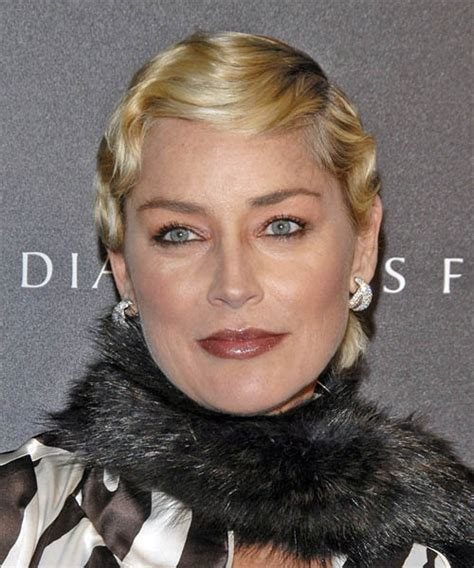 formal hairstyles for 50 year old sharon stone short wavy formal hairstyle