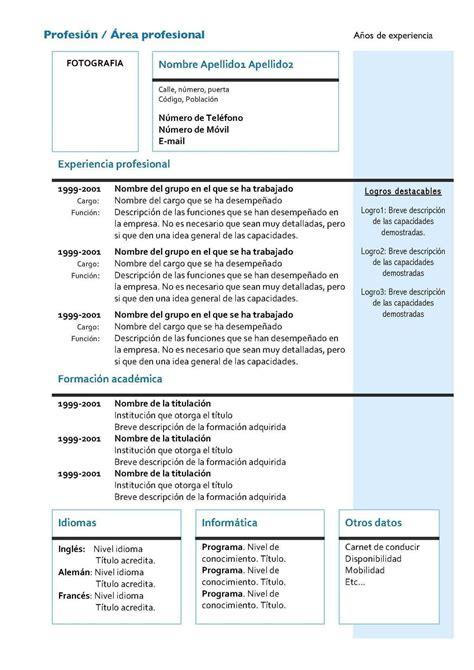 Modelo Curriculum Vitae Investigador Plantillas De Curriculum Vitae Identi Newhairstylesformen2014
