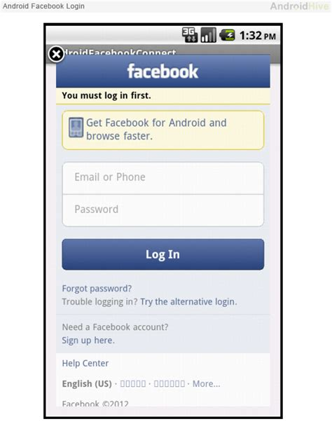 Fb Login Android | facebook login button android tutorial the best sites in
