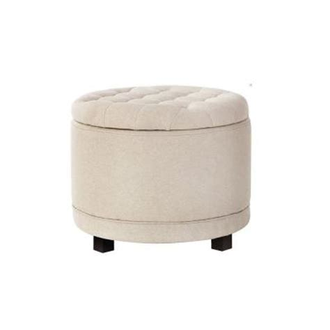 round shoe ottoman home decorators collection chambers solid tufted canvas