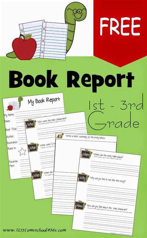 Book Report Forms Free Printable Book Report Forms For 1st Grade 2nd Grade And 3rd Grade 2nd Grade Book Report Template Free