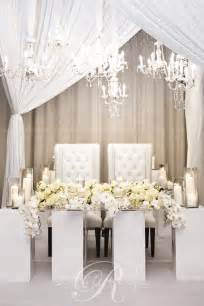 Wedding Head Table Pristine White Head Table Orchid Wedding Flowers Wedding