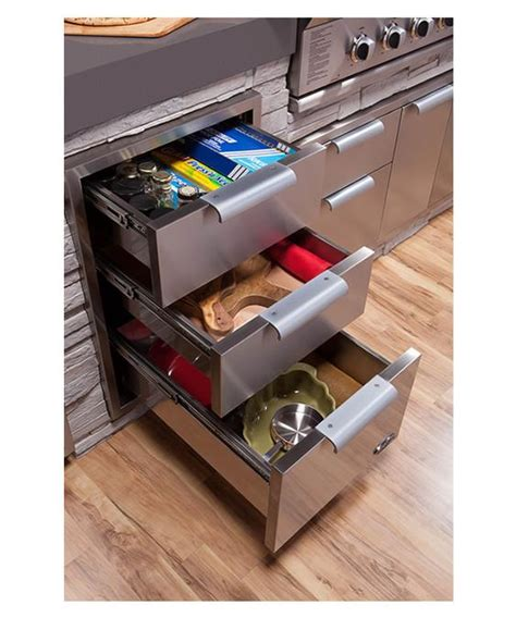 outside storage drawers tower drawer triple tdt20 by dcs appliances by fisher