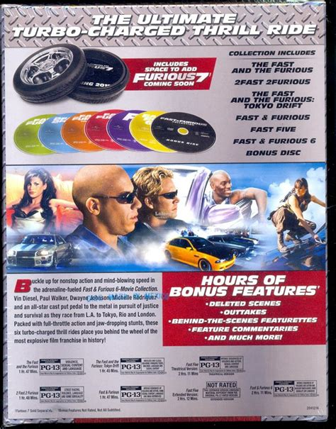 fast and furious box set 1 6 fast furious 1 6 collection new end 1 3 2017 3 15 pm