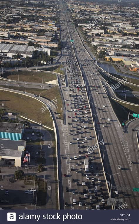 Traffic Search Miami Traffic Jam Miami Florida Highway Stock Photo Royalty Free Image 35577588 Alamy