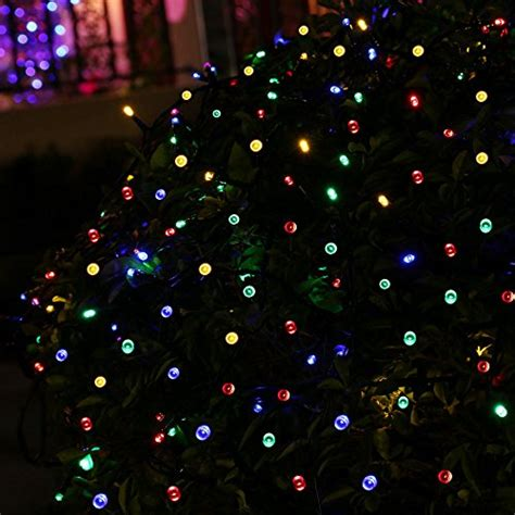 ledertek decorative solar powered christmas lights multi
