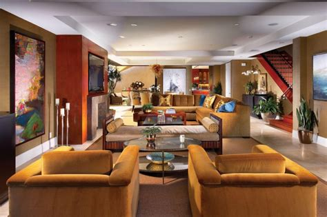 mediterranean homes interior design grand living room with l shape sofa also arm chairs plus