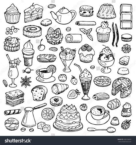 free doodle design elements cafe set doodle elements vector illustration