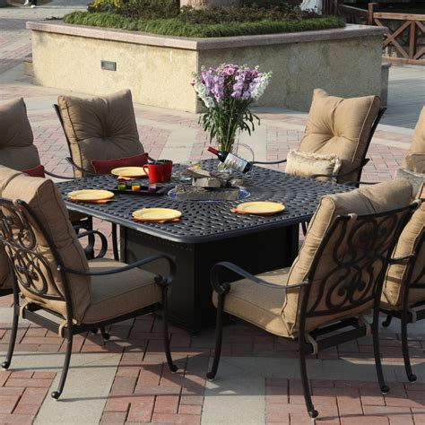 Outdoor Dining Set Pit Darlee Santa 9 Cast Aluminum Patio Pit
