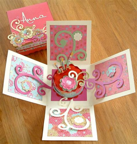 Paper Craft Cards - 28 best images about explosion box templates on