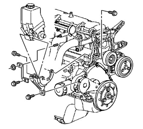 electric power steering 2002 gmc sonoma auto manual repair guides power steering pump removal installation autozone com