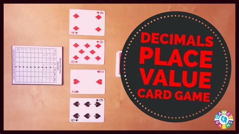 place value cards template decimal place value with cards 4 gains
