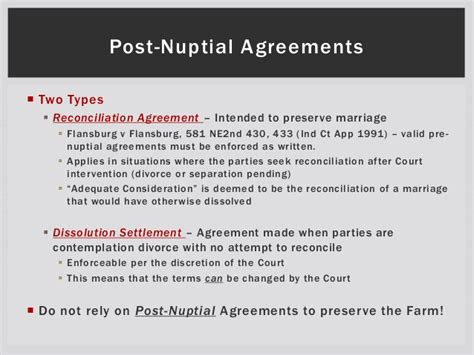Divorce Reconciliation Letter 2013 Pre And Post Nuptial Agreements