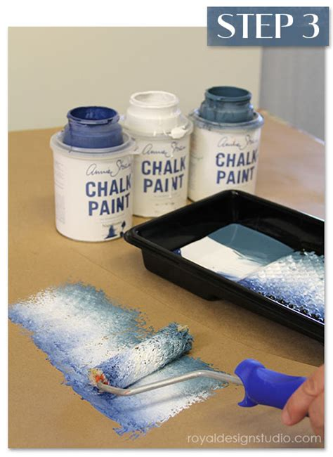chalk paint roller stencil how to faded silk suzani fabric finish paint