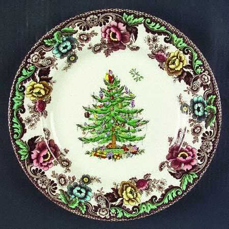 christmas tree grove pattern vignette design setting the table with christmas dinnerware