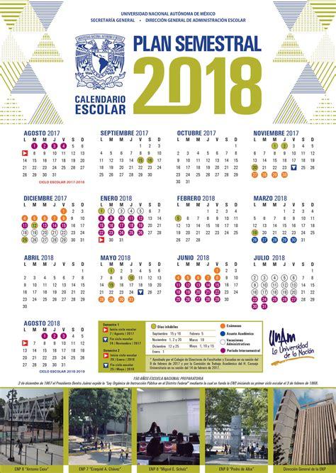 Calendario 2018 Anahuac Unam Dgae Siae Actividades Calendarios
