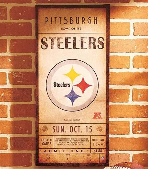 pittsburgh steelers home decor pittsburgh steelers nfl classic ticket wall art picture sign football home decor wall art pictures