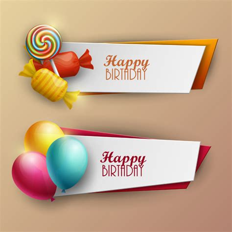 design banner sweet 17 sweet with birthday banner vector material 02 vector