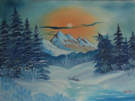 bob ross painting winter bob ross frozen winter paintings bob ross frozen