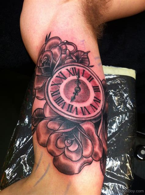 tattoo on bicep clock tattoos designs pictures page 26