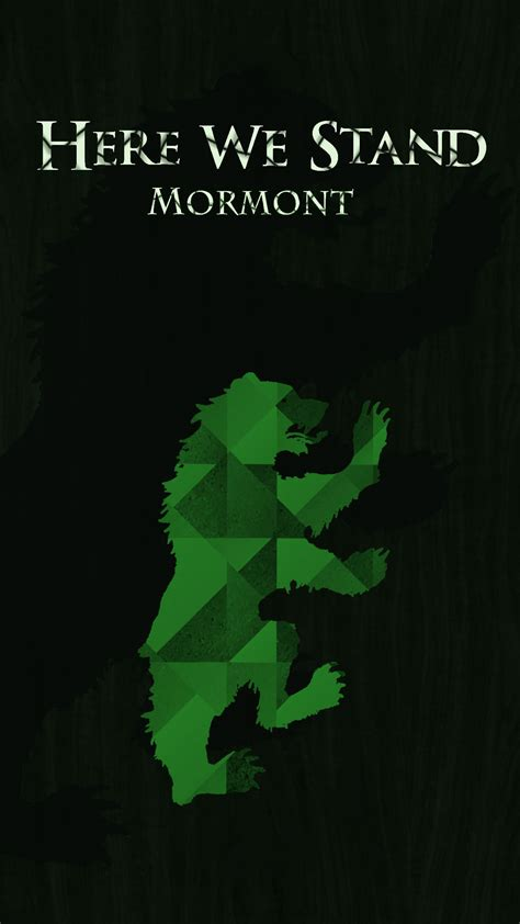 house mormont no spoilers i made a house mormont wallpaper for mobile gameofthrones