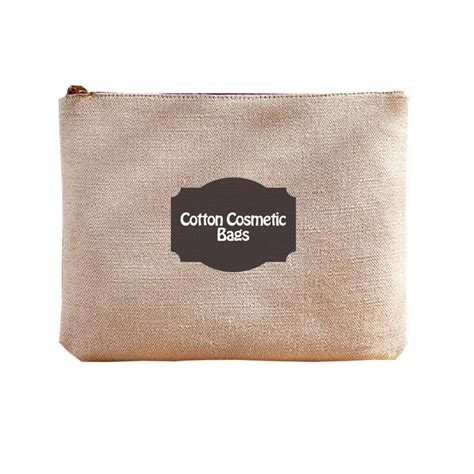 Printed Cosmetic Bag Pouch personalized logo printed linen cosmetic bag