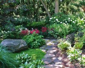 perennial plants for shade gardens shade garden with stone path photo by sisson landscapes