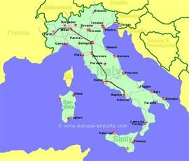 airports in map airports in sicily italy map