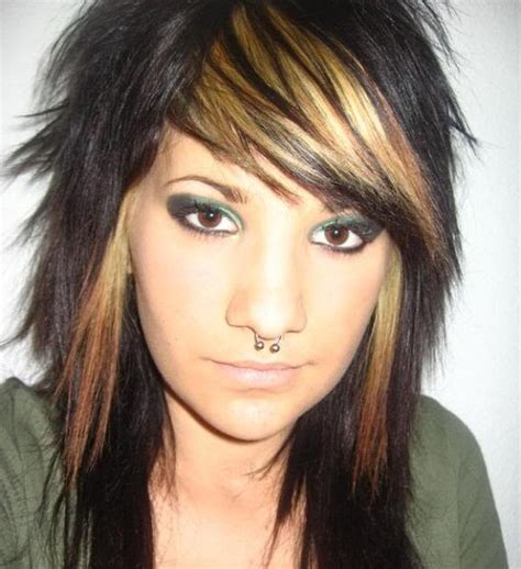 emo hairstyles with highlights emo hairstyles with red highlights