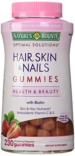 Natures Bounty Hair Skin Nails Gummies 120pc Vitamin Rambut Nature S Bounty Hair Skin And Nails 230 Gummies