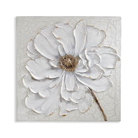 Floral Wall Decor by Plaster Floral Canvas Arthouse