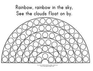 rainbow dot coloring page do a dot rainbow template lots of other rainbow