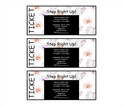 68 Microsoft Invitation Template Free Sles Exles Microsoft Word Ticket Template