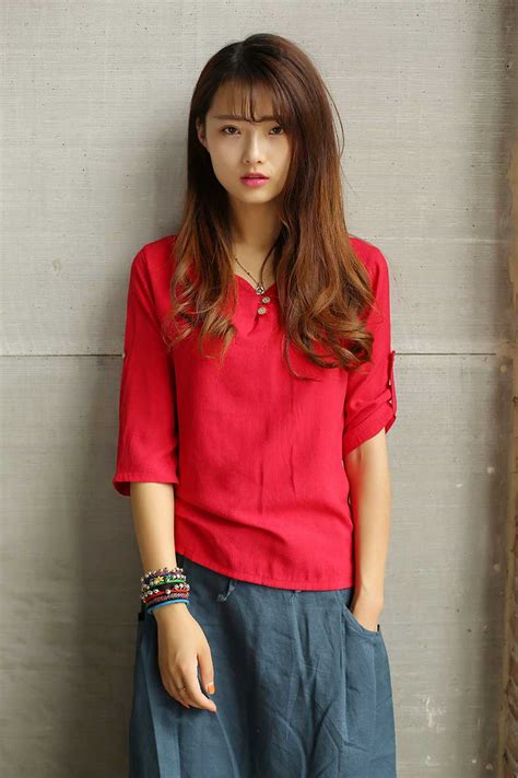 Atasan Wanita Warna Merah baju atasan natal warna merah simple myrosefashion