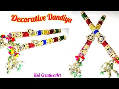 decorate dandiya sticks home diy how to decorate dandiya sticks for navratri garba