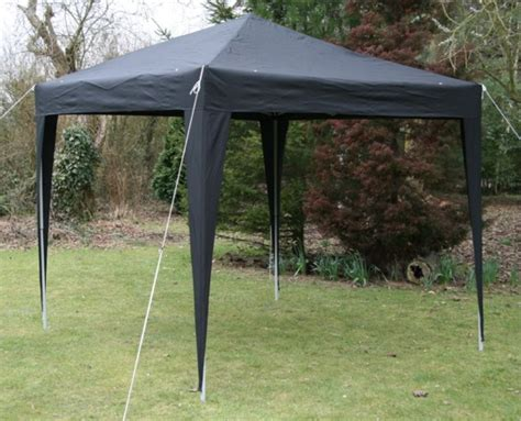 gazebo 2 5x2 5 2 5 x 2 5m black pop up gazebo fully waterproof sides