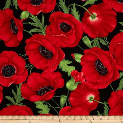 Pattern For Fabric Poppy | timeless treasures poppies large poppy red discount