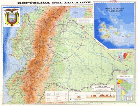 ecuador physical map physical map of ecuador 1985 size