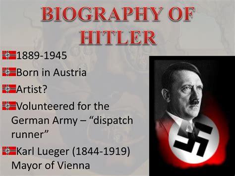 biography of hitler ppt ppt adolf hitler 1889 1945 powerpoint presentation