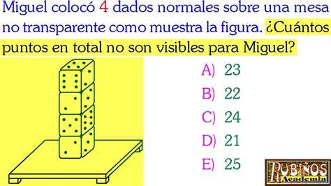 preguntas de logica para examen de admision examen de admisi 243 n a la universidad problema de dados