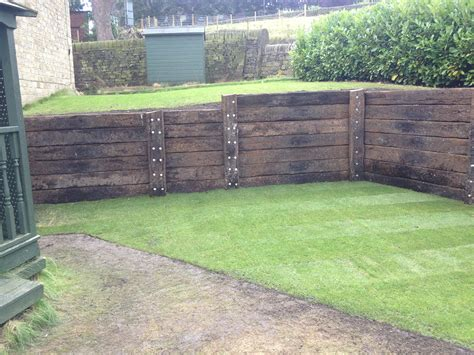Retaining Sleeper Wall by Previous Projects And Testimonials From Our Happy